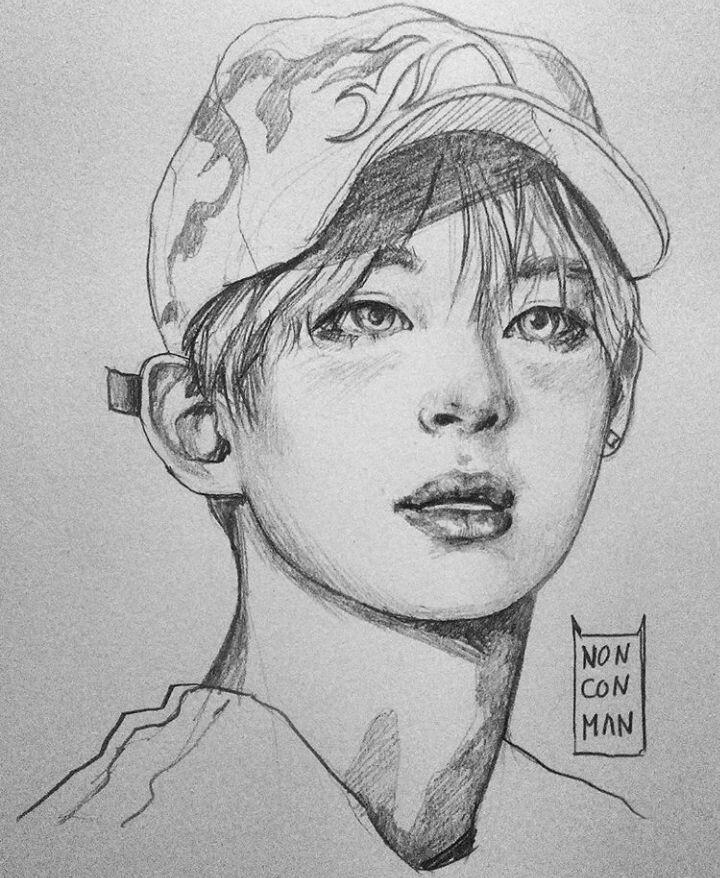 BTS Fanart V by nonconman (Twitter) Bts drawings