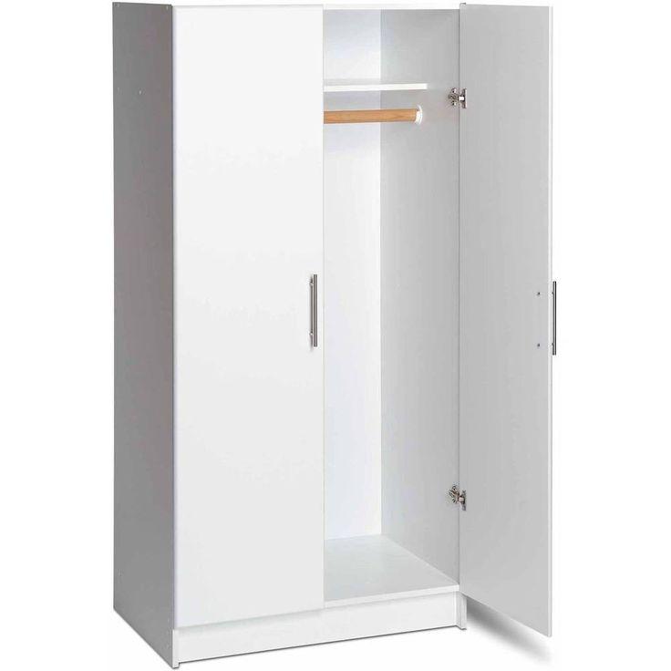 Wooden Wardrobe Closet Armoire Bedroom Storage Organizer Cabinet White