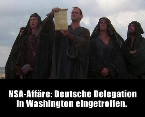 #NSA Deutsche Delegation in Washington eingetroffen ... :-)