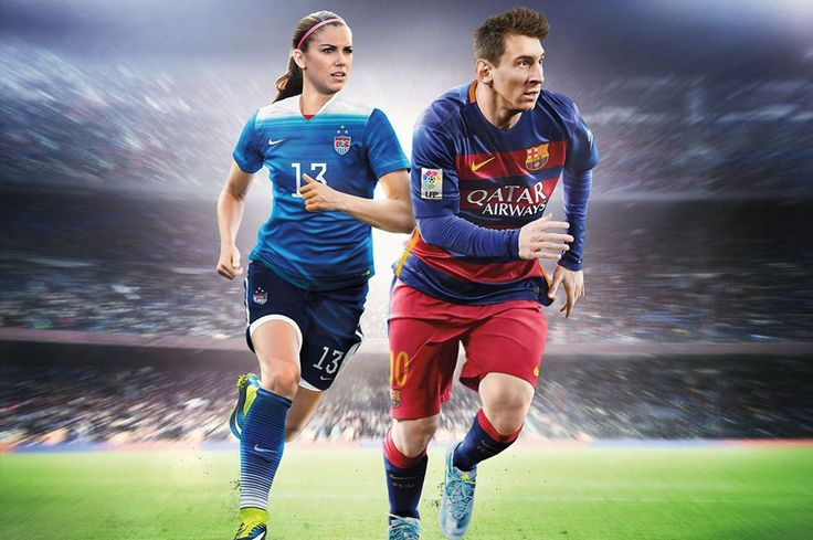 """EA Sports announced that Morgan has landed the cover (along with Lionel Messi) of the upcoming """"FIFA 16"""" game. For the first time in the history of the EA Sports' video game FIFA, a woman will appear on the cover. Team USA star Alex Morgan will j..."""