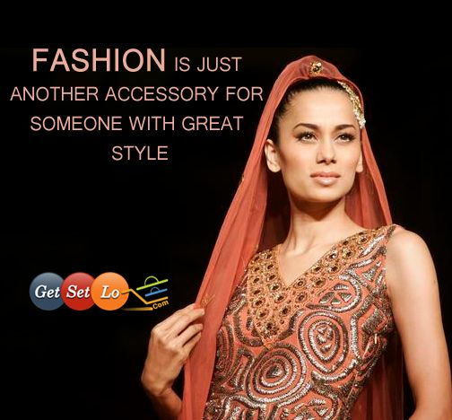 Fashion is just another accessory for someone with Great Style