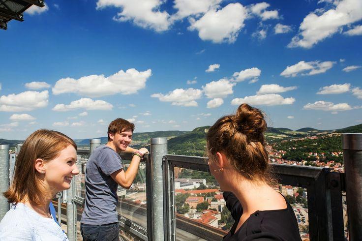Herrlicher Blick über Jena vom Intershop Tower.