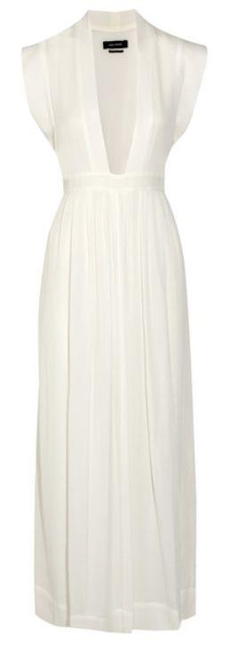 Robe longue d'été en voile blanc, Isabel Marant