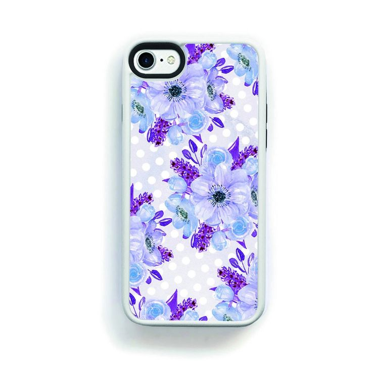 Purple Anenomie Flower Clusters for iPhone 7