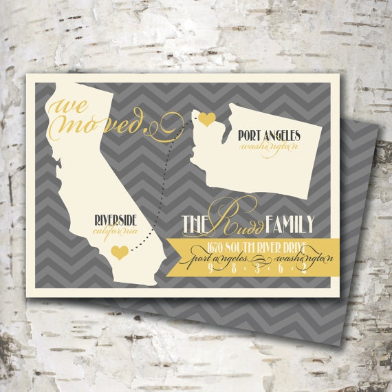 Moving to a different state? Check out this new moving announcement for $15 at www.stewartdesignstudios.etsy.com