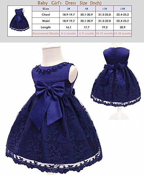 a9a7cb631 H.X Baby Girl's Newborn Bowknot Gauze Christening Baptism Dress Infant  Flower Girls Wedding Dresses 8 Color