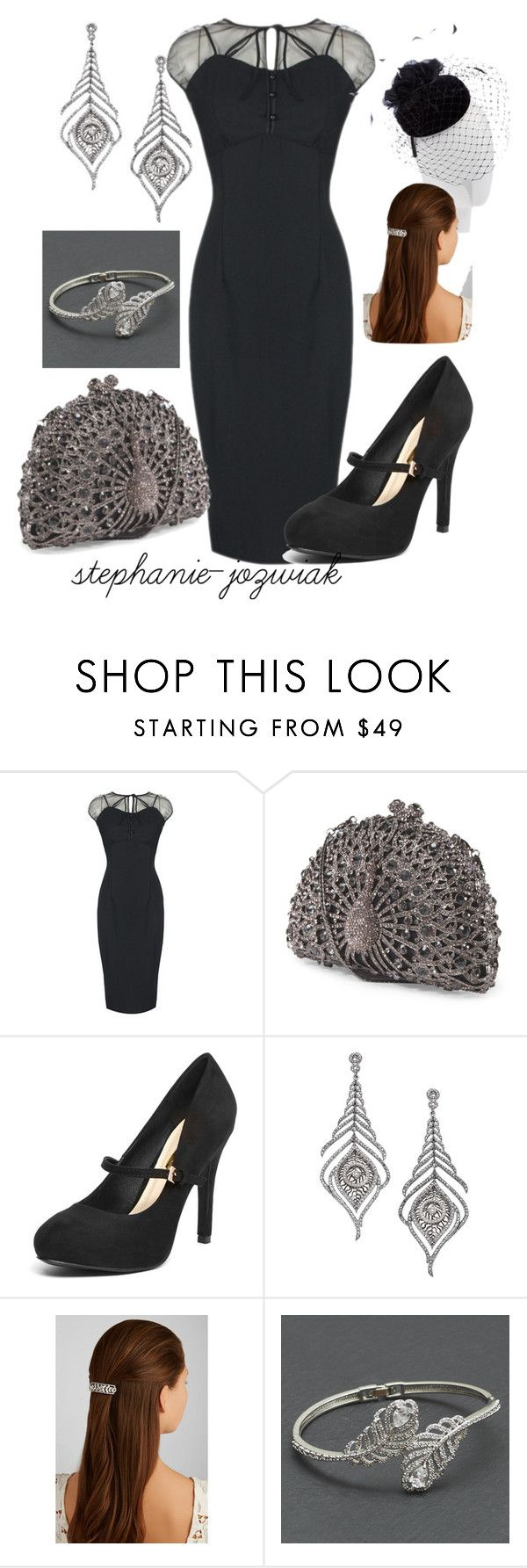 """""""Meleri's Dress for Kathrine's Funeral"""" by stephanie-jozwiak ❤ liked on Polyvore featuring John Lewis, Dorothy Perkins, Mystic Light and Jennifer Behr"""