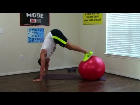 20 Min Exercise Ball Workout - HASfit Exercise Ball Exercises - Stability Ball Workouts Swiss Ball - YouTube
