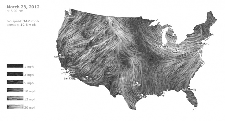 Wind speeds across the US. This is beautiful and I want to pet it.