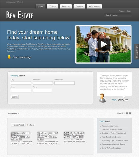 48 best Web Design for Real Estate Businesses images on Pinterest ...
