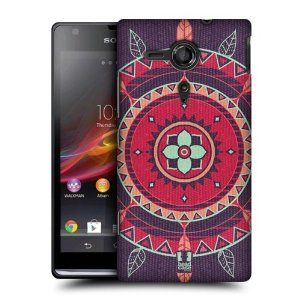 Amazon.com: Head Case Violet Indian Monograms Hard Back Case Cover For Sony Xperia Sp C5303: Cell Phones & Accessories