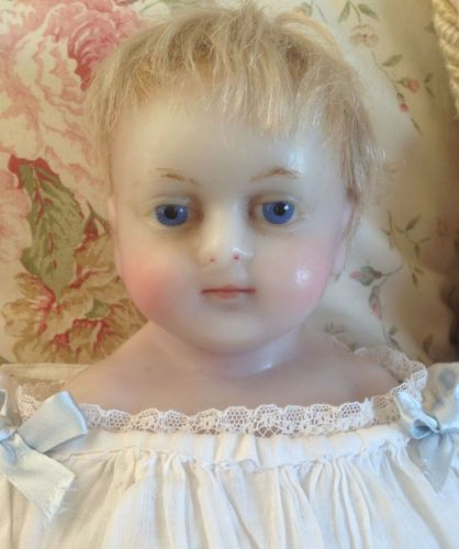 Beautiful Antique English Poured Wax Baby Doll Sweetest Little Face   eBay