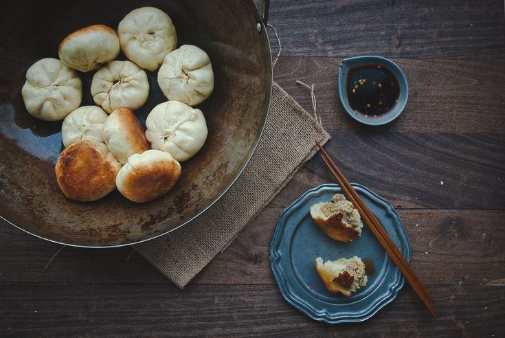 Steamed buns, three ways.