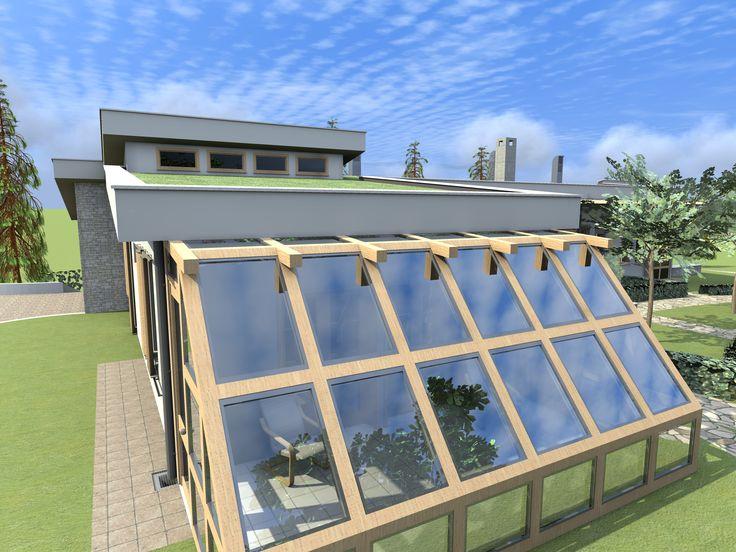 Φωτορεαλιστική πρόταση για βιοκλιματική κατοικία.