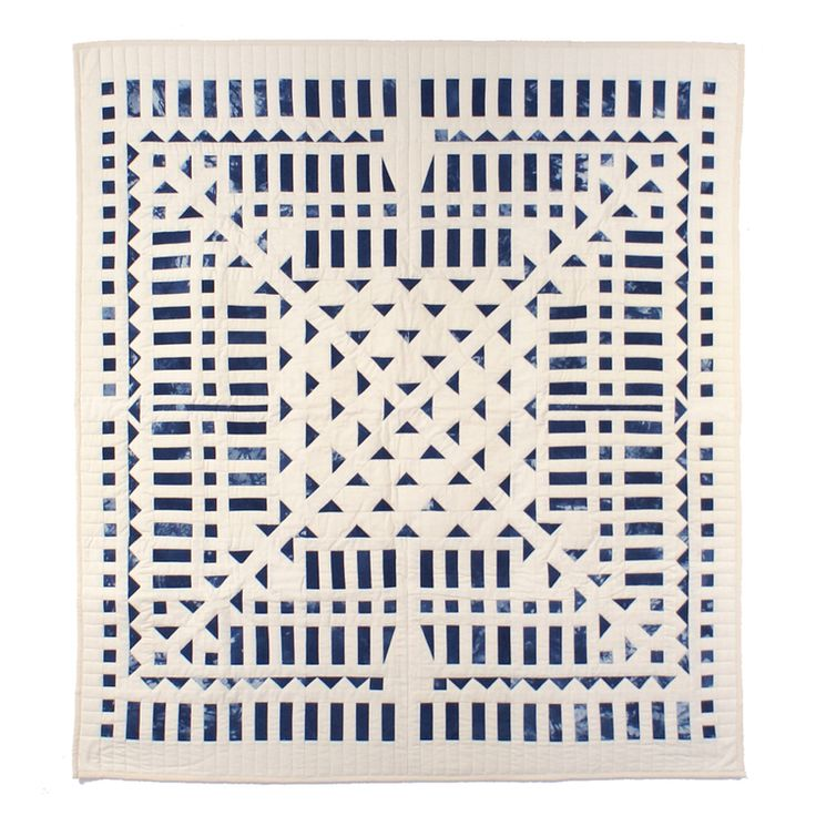 Amazing quilt made with indigo died piecework by Meg Callahan