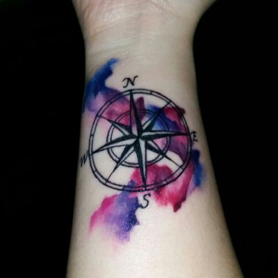 watercolor compass tattoo | Tumblr
