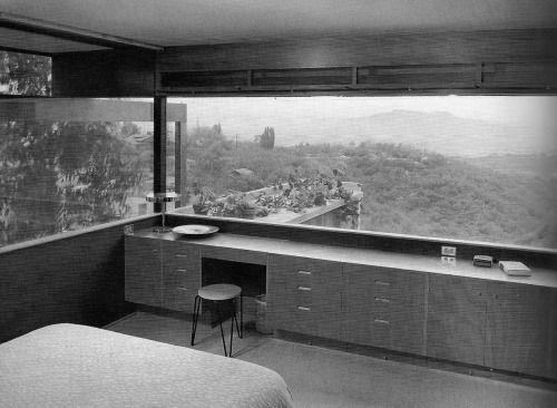 Richard Neutra, Hinds house interior, 1951 Arquitectura y Diseño