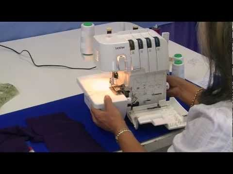 Using Your Overlocker / Serger. How to: Curves and Corners - YouTube