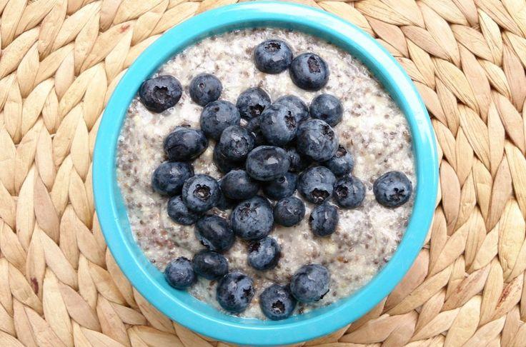 Eiweiß-Power-Frühstück mit Chia - vegangreenroom.de
