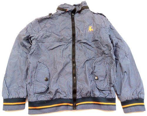 BRUMLA.CZ – Značkový dětský a dospělý second hand a outlet, použité oděvy pro děti a dospělé - Modro-černá kostkovaná šusťáková jarní bundička zn. Rebel