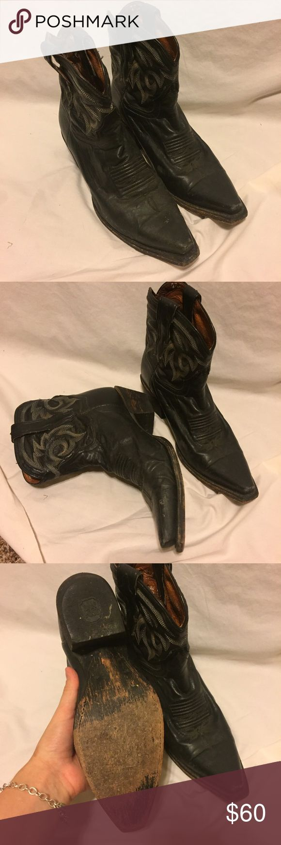VTG leather Dan Post Boots Super cute and comfortable! still in good condition! Dan Post Shoes Ankle Boots & Booties