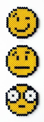 Perler Bead Smileys by Pantflaske
