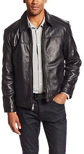 €523, Blouson aviateur en cuir noir Marc New York. De Amazon.com. Cliquez ici pour plus d'informations: https://lookastic.com/men/shop_items/69587/redirect