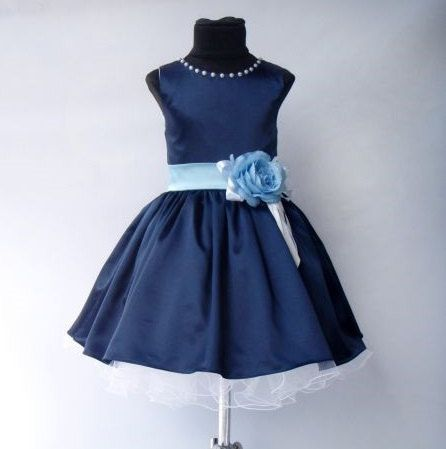 Navy Blue bruidsmeisjes jurk bloemenmeisje door FlowergirlDressStore