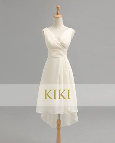 Beige white short prom/party/evening/bridesmaid/dress by KikiStory, $68.00 •Beach- This would be an easy dress to wear for the event.