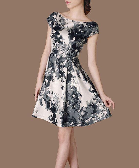 Summer Dress Artistic Splashing Ink Painting Printing Dresses O Neck A line Dress Elegant Ethnic Style CK48