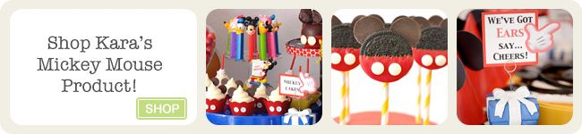 Mickey Mouse Themed Birthday Party - Kara's Party Ideas - The Place for All Things Party