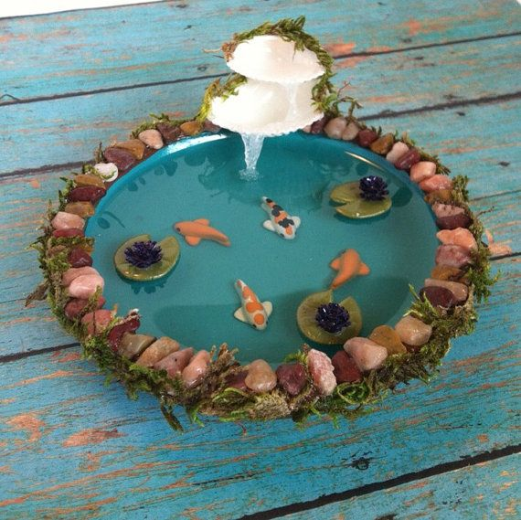17 best images about miniature ponds on pinterest clay for Clay fish pond