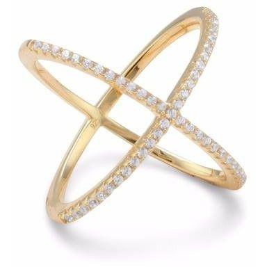 Criss Cross Ring 18K Gold