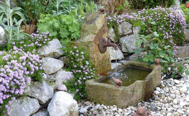 48 besten Garten -Wasser Bilder auf Pinterest Teiche - reihenhausgarten vorher nachher