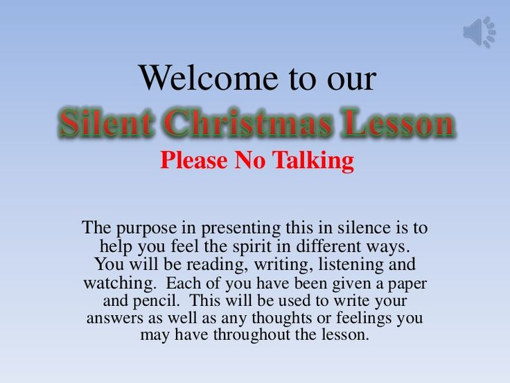 Yw silent christmas lesson 2012 by tylerjenson via slideshare