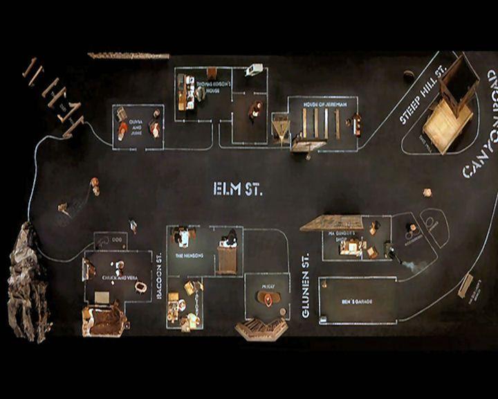 El maravilloso set de Dogville, de Lars von Trier.