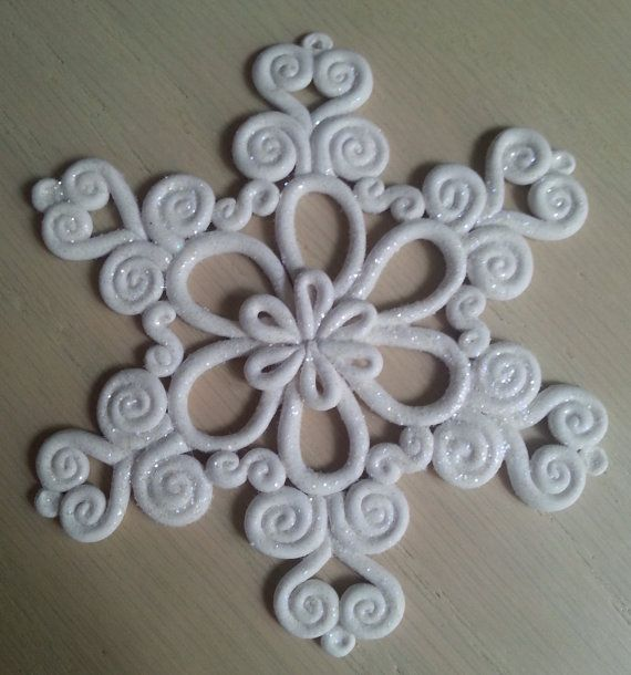 Check out this item in my Etsy shop https://www.etsy.com/ca/listing/250805984/handcrafted-whimsical-sparkly-snowflake