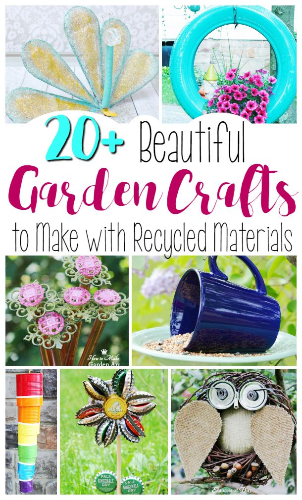 The best garden craft projects make with recycled materials. These upcycling DIYs are so cool and some of these look so easy!