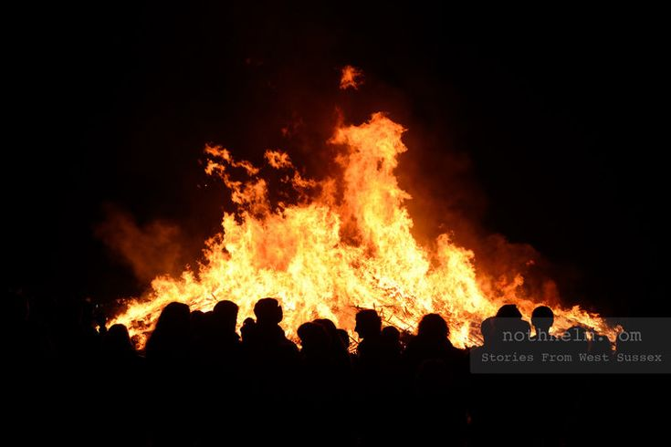 A large bonfire in West Sussex.   Bonfire night in West Sussex, England. Photo © Scott Ramsey / nothhelm.com