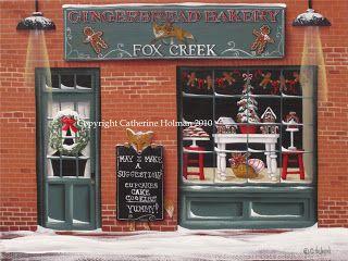 Catherine Holman Folk Art: Christmas Pudding and Gingerbread Bakery