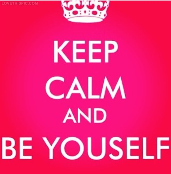 Be Yourself quotes keep calm quotes positive quotes             thats who I can tell who is really my true best friend from the fakes that just use you and pretend to be all besties and this is basically for all the haters and fakes love them they make my day :),