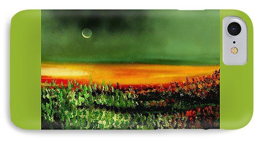 Twilight Field IPhone 7 Case Printed with Fine Art spray painting image Twilight Field by Nandor Molnar (When you visit the Shop, change the orientation, background color and image size as you wish)