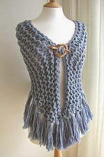 CARAMELO DE CROCHET: Denim grarter stitch shawl