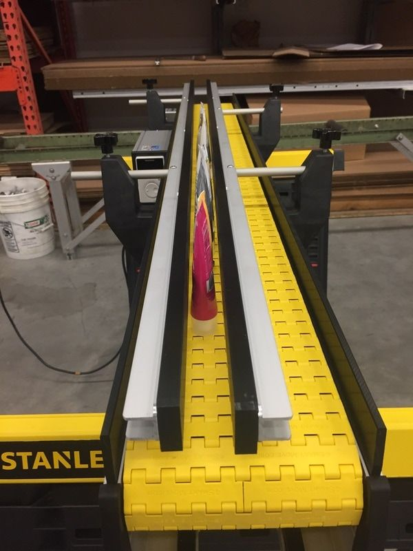 Little Conveyor System With Adjustable Guides