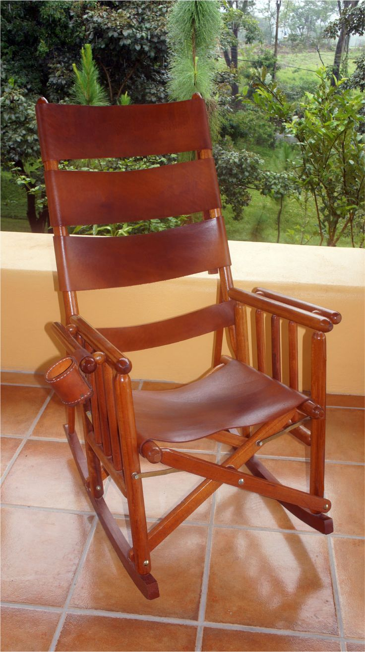 Rocking chairs, The balcony and Natural leather on Pinterest