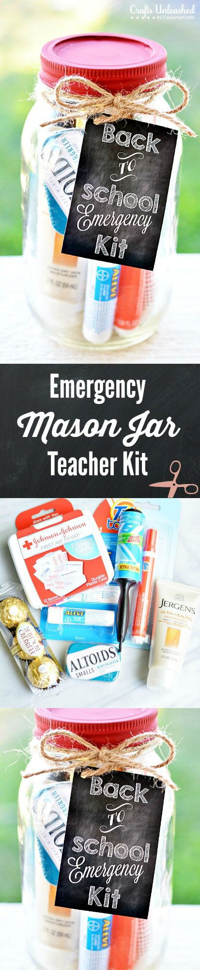 Emergency Mason Jar Teacher Kit