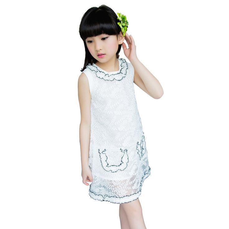 21.59$  Buy now - http://alihz0.shopchina.info/1/go.php?t=32808751252 - Children Lace Princess Dressses For Party And Wedding Sleeveless Girls Dresses 2017 Summer Kids Prom Dress For Girls Ball Gowns  #buychinaproducts