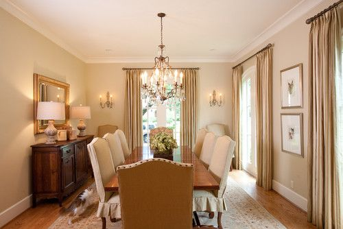 French country traditional spaces houston creative for Country dining room color ideas