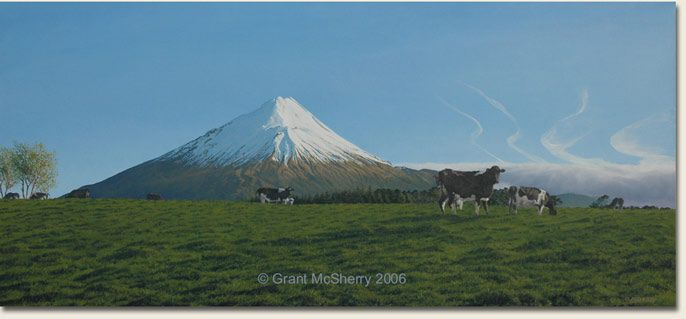 paintings of mt egmont - Google Search