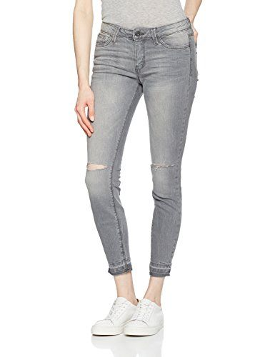 b17e153394bc Tom Tailor Denim Jona Grey Distressed Knees Jeans Femme Gris (Stone W30  (Taille Fabricant